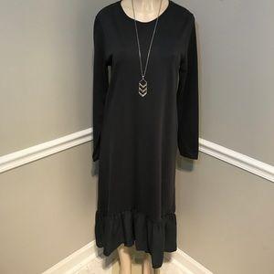 ZARA NWT Charcoal Grey Knit Dress Size Medium